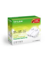 TP-LINK TL-PA8010P kit AV1200 2*PowerLine Ethenrnet Adapters with AC Pass Through,1200Mb/s