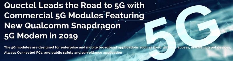 LTE 4G 5G quectel modules avalible