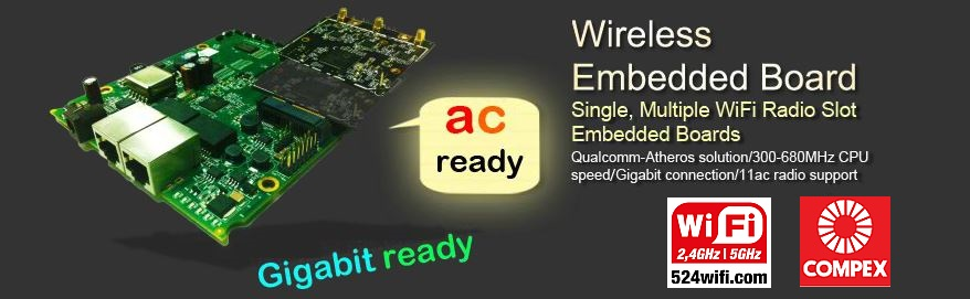 Wireless CPU Embedded boards, Atheros based, PCBA, OpenWRT