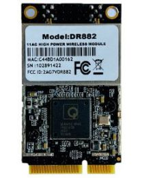 DR 882-NAS QCA9882 miniPCIe High Power WiFi radio module, 28dBm, 802.11ac, 5GHz, 2x2MIMO, 2xMMCX, Wallys