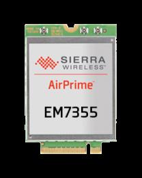 EM7355 AirPrime Sierra wireless Module M.2, LTE CAT 3, DC-HSPA+, HSPA+, HSDPA, HSUPA, WCDMA, GSM, GPRS, EDGE, CDMA, GNSS