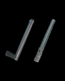 Wallys WiFi 6E mini rSMA dipol omni antenna, 3 - 4 dBi, 2.4 -2.5 & 5.15  - 7.15 GHz  frequency, model DRA24126ESBE