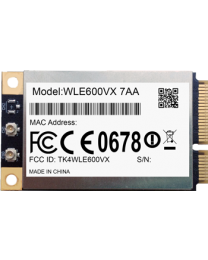 COMPEX WLE600VX - 7A miniPCIe QCA9882 module,  802.11ac, 2x2MIMO, 2,4 / 5GHz, Qualcomm reference XB140 design