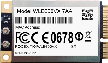 WLE600VX - 7A miniPCIe QCA9882 module, 802 11ac, 2*2, 2,4 / 5GHz, Compex