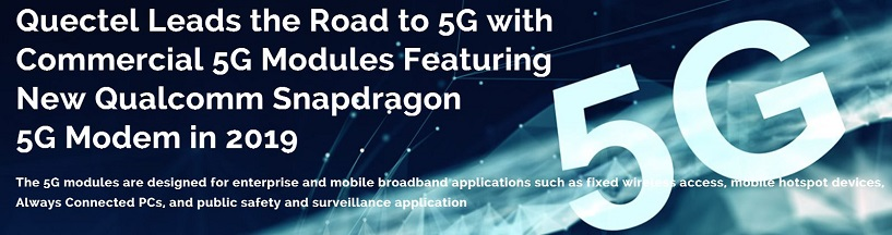 LTE 4G 5G quectel modules avalible